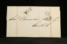 Allan Line: 1856 Stampless Cover, Quebec to Montreal, Large WAY 3