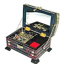 Musical Treasure Chest Keepsake Jewelry Box With Butterfly