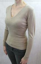 Zambelli Size M or 10 Camel Beige Merino Wool Sweater