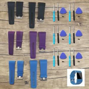 1x Ersatz Silikon Armband für Fitbit Surge Watch Tracker mit Werkzeug S/L