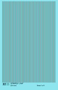 K4 HO Decals Black 1/64 Inch Stripes Set
