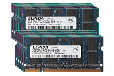 10pcs Elpida 2GB 2RX8 DDR2 800MHz PC2-6400S 200PIN SODIMM Laptop Memory RAM Kits