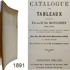 Catalogue des tableaux exécutés par Edouard Moulinet 1891 Petit-Mangin Chartres
