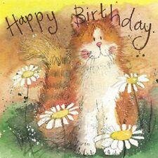Alex Clark 'Cat and Daisies' Animal Birthday Card - FREE UK POSTAGE!