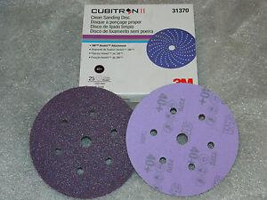 "(1) BOX OF 3M 31370 CUBITRON II CLEAN SANDING HOOKIT 6"" (25) DISCS 40 GRIT GRADE"