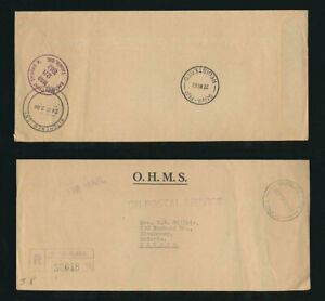 TONGA to CANADA OFFICIAL OHMS REGISTERED AIR 1962 via FIJI to KITCHENER ONTARIO