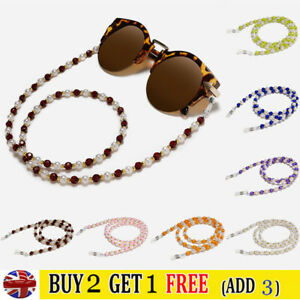 Glasses Neck Chain Rope Lanyard Beaded Sunglasses Strap Spectacles Reading Cord.