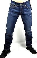 True Religion $209 Men's Geno Deep Blue Cascade Relaxed Slim Jeans - MDAE08N22U