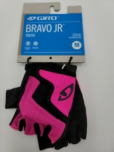 Giro Bravo Jr Cycling Gloves Bright Pink Youth medium new