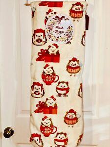 Hedgehog Hot Chocolate Christmas Decor Cute Kawaii Throw Plush Blanket 50x70NWT