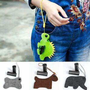 Dog Poopbags Holder Dispenser Waste Poo Puppy Pick-up Bag Hook Wristlet Pouch