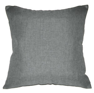 Qh12a Grey Thick Cotton Blend Style Cushion Cover/Pillow Case Custom Size