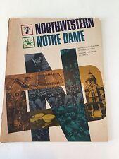 Ara Parseghian Football program  Oct 12, 1968.  ND vs Northwestern