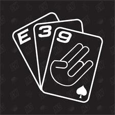 Jeu De Cartes E39 - Tuning Sticker, Choquant Fun Autocollants Pour Voiture,