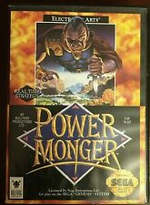 Power Monger Sega Genesis COMPLETE Game Cartridge Case Manual EA TESTED Vintage
