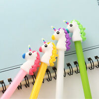 4Pcs Lovely Cute Cartoon Horse Unicorn Gel ink Pens Office School Stationery NEW