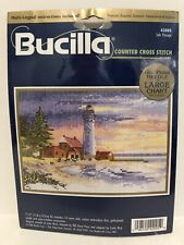NOS~Bucilla Counted Cross Stitch Kit SAFE PASSAGE ~Made USA~ Seul Lighthouse