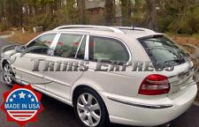 2002-2008 Jaguar X-Type Wagon 8Pc Chrome Pillar Post Stainless Steel Trim (Fits: Jaguar X-Type)