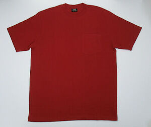 Filson Short Sleeve Solid One Pocket T Shirt Brick Red Size Large New Outfitter