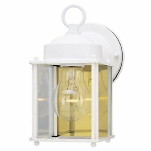 Front Porch Light  Exterior Fixture Lantern with Clear Glass Panels