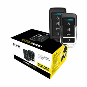 Crimestopper RS4-G6 Remote Start with Keyless Entry and Trunk Release 1500 feet
