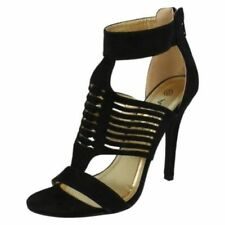 Zip Suede Open Toe Shoes for Women