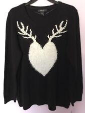 Style & Co. Women's Christmas Pullover Sweater Top Black Size 2X NWT MSRP:$59.50