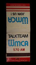 Vintage Talk Team WMCA 570 AM Radio Matchbook Matches