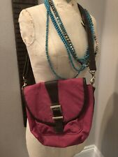 Kelly Moore Messenger Camera Bag: Cross Body Purse Leather Pink Brown B-Hobo