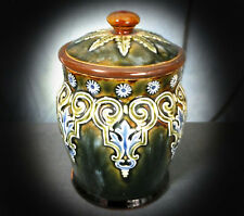 SUPERB, RARE LATE 19th. / EARLY 20th. C DOULTON TOBACCO JAR by GEORGIE SMITH