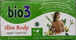 Bio3 Weight Control Tea,Slimming Slim Body,Weight Control Detox,1 Pack, 25 bags