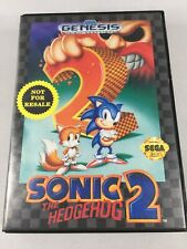 SONIC THE HEDGEHOG 2 SEGA GENESIS NOT FOR RESALE VERSION VIDEO GAME WITH MANUAL