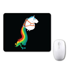 Rainbow Unicorn Funny Cute Mouse Mat Pad Notebook Computer Laptop Mice