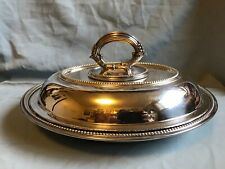 VINTAGE  SILVERPLATED GEORGIAN STYLE LIDDED SERVING OR ENTREE DISH