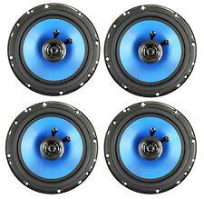 "4) Q POWER 6.5"" 300 Watt 2-Way Blue Car Audio Stereo Coaxial Speakers   QP650"