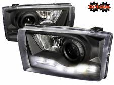99-04 Ford F250 F350 Super Duty Excursion Black Projector Headlights w/LED DRL