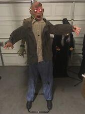 Lifesize Animated Standing Zombie Halloween Animatronic Prop