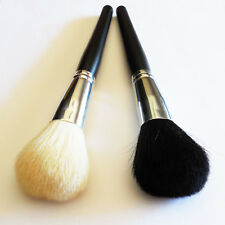 Pro Face Power Foundation Cosmetic Soft White Black Goat Hair Makeup Brush New