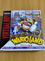 Nintendo Virtual Boy Wario Land Treasure of Awazon form JAPAN NEW FS