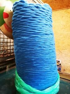 "100% Baumwolle Kardenband/ Kammzug Handgefärbt ""I´m Blue"" 6,50€ 100g/ 65€ kg"