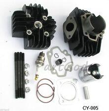 Cylinder Head Piston Assembly Kit for Yamaha PW50 81-09 QT50 79-87 60cc Big Bore