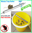 Rolling Mouse Trap Spinning Log No Kill Trap Reusable for Mice & Rat Bucket