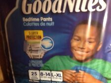 GoodNites Bedtime Brief bedtime Pants for Boy Size LARGE/XL(60-125) 50 total
