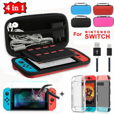 For Nintendo Switch Travel Carrying Case Bag+3ft Charging Cable+Film+Hard Case
