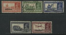 Bahrain KGVI 1938-41 various overprinted larger values used