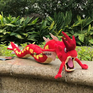 "Red Dragon Shiny Gyarados 23"" Plush Stuffed Toy Cartoon Soft Doll"