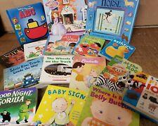 Lot of 5 Children BOARD Hardcover BABY TODDLER DAYCARE Kids BOOKS *RANDOM MIX*