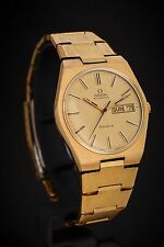 Omega Geneve Automatic, ref. 166.0125 cal. 1022, gold plated, vintage men's 1972
