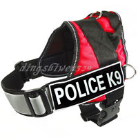 REFLECTIVE Service Dog Vest Harness Choose 2 label patches IN TRAINING POLICE