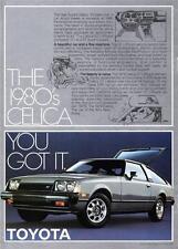 Old Print. 1978 Toyota Celica GT Liftback Car Ad